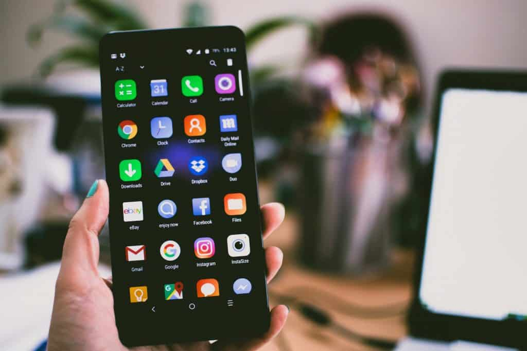 An android phone with all the best applications.