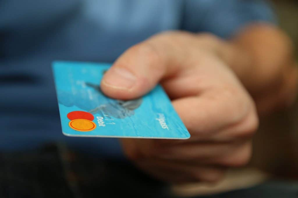 A credit card about to be stolen through identity theft