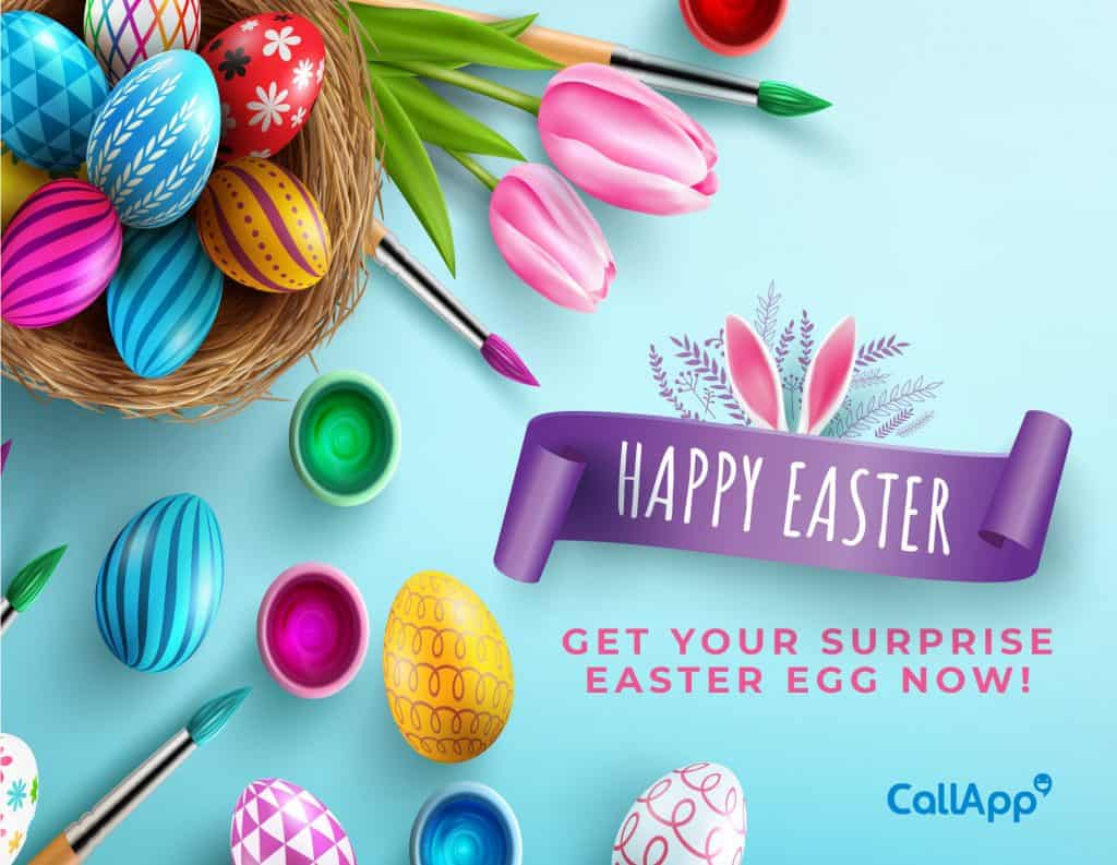 CallApp's easter special offering free treats