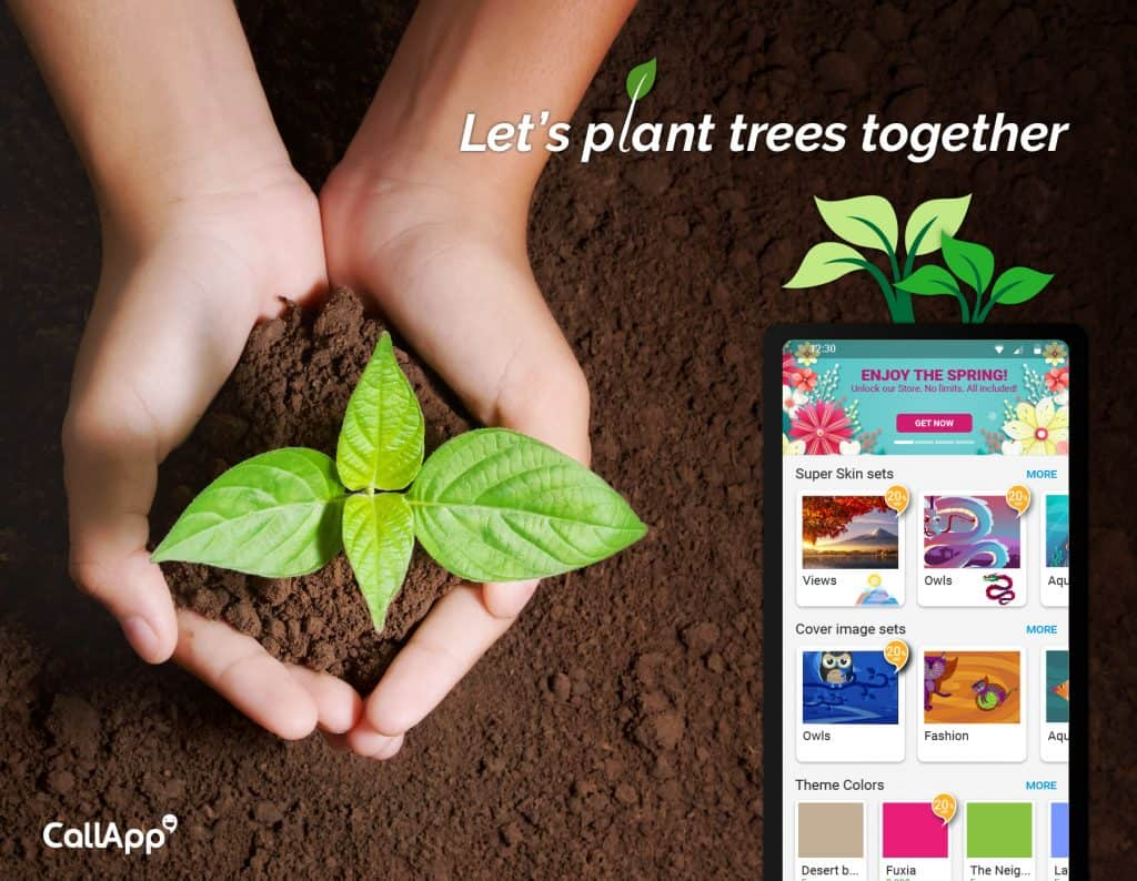 CallApp's Earth Day efforts